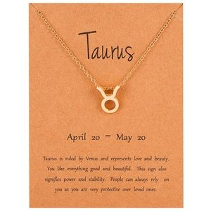 TAURUS Gold Charm Necklace - New